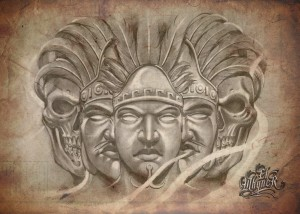 El Whyner, Art, Graphite, Pencil, Chicano, Flash, Tattoo, Black and Gray (1)