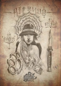 El Whyner, Art, Graphite, Pencil, Chicano, Flash, Tattoo, Black and Gray (2)